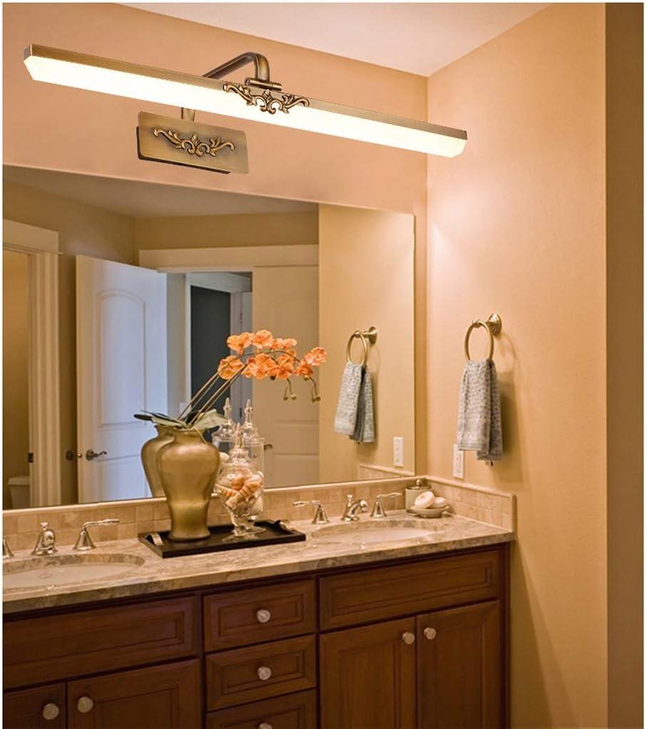,Spiegelleuchte LED Spiegel Scheinwerfer Bad Bad Bronze Spiegel European Mirror Cabinet Acryl Spiegel Scheinwerfer .Spiegellicht (Edition : Neutral light-71cm) White Light-51cm