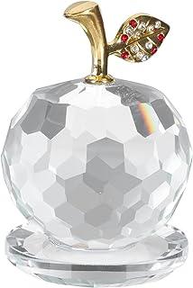 STOBOK Kryształ Jabłko Ornament Dekstop Apple Figurka Boże Narodzenie Wigilia Jabłko Model Boże Narodzenie Party Stół Cent...