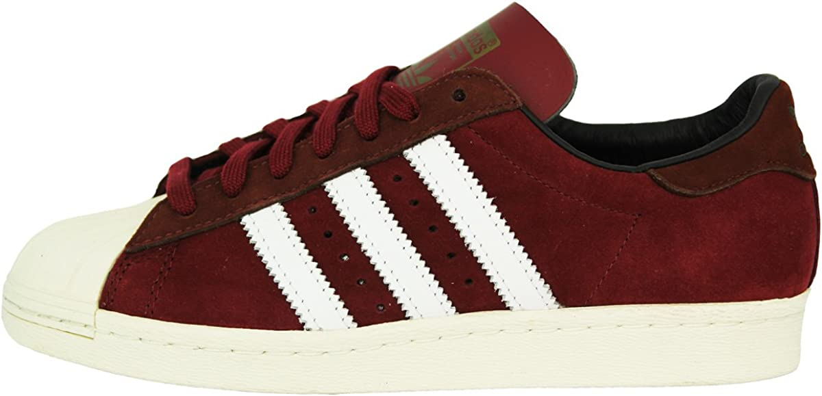 adidas Superstar 80S Chaussures Mode Sneakers Homme Cuir Bordeaux ...