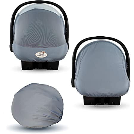 Summer Cozy Cover Sun & Bug Cover (Glacier Gray) - The Industry Leading Infant Carrier Cover Trusted by Over 2 Million Moms Worldwide for Protecting Your Baby from Mosquitos, Insects & The Sun