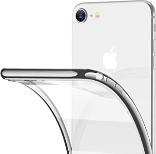 RANVOO iPhone 8 Case, iPhone 7 Case, Clear Soft Slim Thin Case Premium Flexible Chrome Bumper Transparent TPU Back Plate Gel Cover Apple iPhone 8 / iPhone 7 (Crystal Silver)