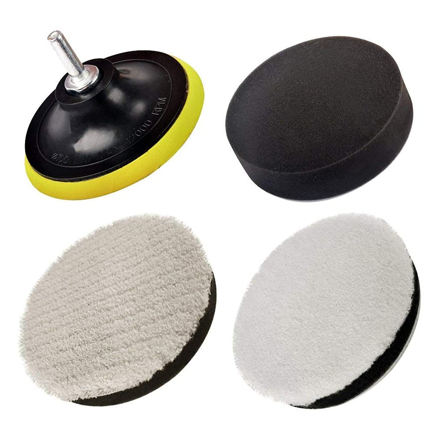 早める耳電子研磨パッド カー研磨用 ポリッシャー用 マイクロファイバー