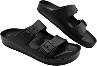 Best Adjustable Slip on Eva Double Buckle Slides Comfort Footbed Thong Sandals for Womens Review