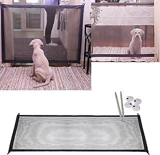 Mcgradyxm 2018 Barrera Escalera Bebe, Barrera de Seguridad Mascotas Perros, Extensible Barrera de Puerta de Seguridad a Presión, Barrera Seguridad Ajustable Abatible (Negro, 180×72cm)