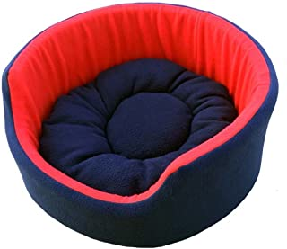 PAWSOME Luxurious Both Side Soft Dog/Cat Bed, Red/Blue (Small) (PWFB64S)
