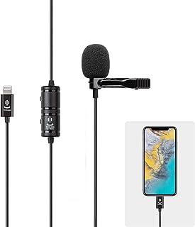 مجموعة ميكروفون للآيفون، ميكروفون لافيلير طية الصدر تسجيل فيديو صوتي متعدد الاتجاهات لهاتف آيفون X Xr Xs ماكس 11 برو 8 8 ب...
