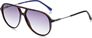 نظارة شمسية افياتور سترايبس اند بابينج للرجال من لاكوست، لون هافانا