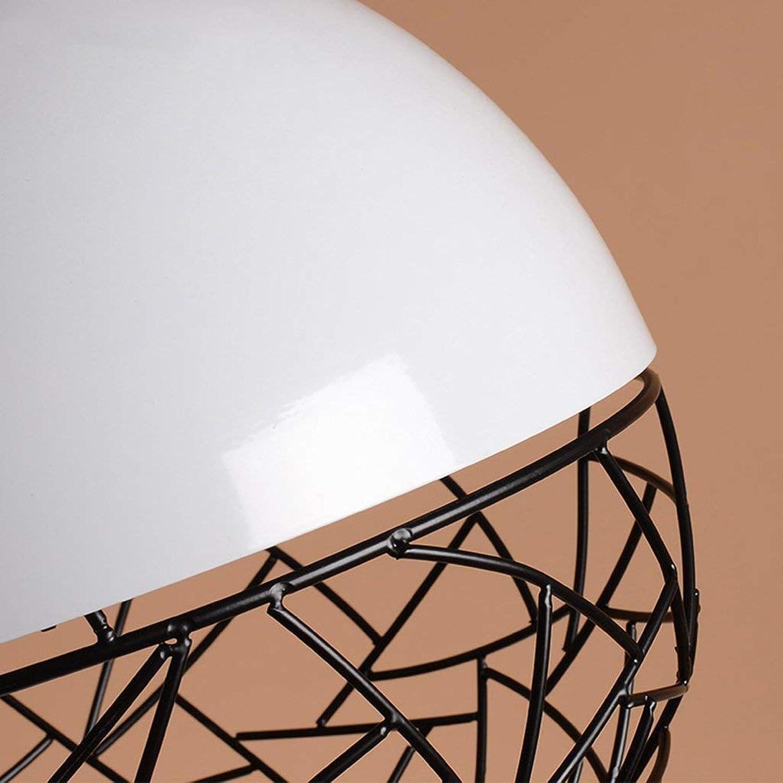 MJY Ball Mesh Glanz, Eisen-Leuchter, einfacher Kopf-E27-Cafe-Proberaum Retro-Retikulierbeleuchtung Dekoration,EIN