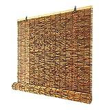 LAK Persiana Enrollable de bambú, Cortinas de caña Natural Tejidas a Mano para Patio al Aire Libre, Protección UV Transpirable 135x180cm 100x200cm 130x120cm