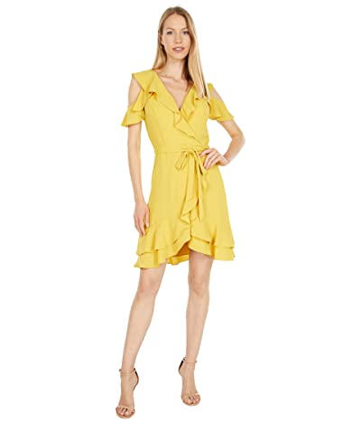 BCBGMAXAZRIA Cold-Shoulder Ruffle Dress