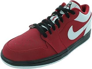 Nike Men's AIR Jordan 1 Low Basketball Shoes 10.5 Men US (Gym RED/White/Black)