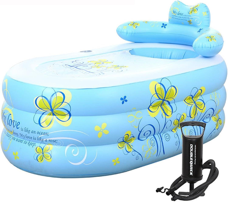 Dicke warme Luft Badewanne Dusche und Badewanne Badewanne klappbarer Schaufel Schaufel, blau, 1307570 cm