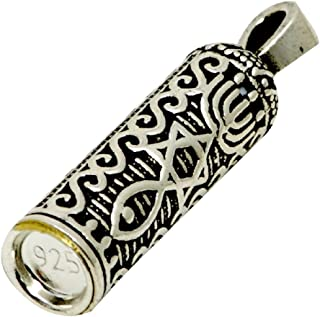 Silver 925 Grafted In Messianic Blessed Mezuzah Pendant And Chain Messiah Symbols From Israel