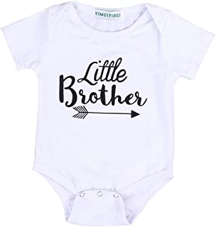 Newborn Baby Boy Girl Romper Tops Shirt Sister & Brother Outfits Set Clothes