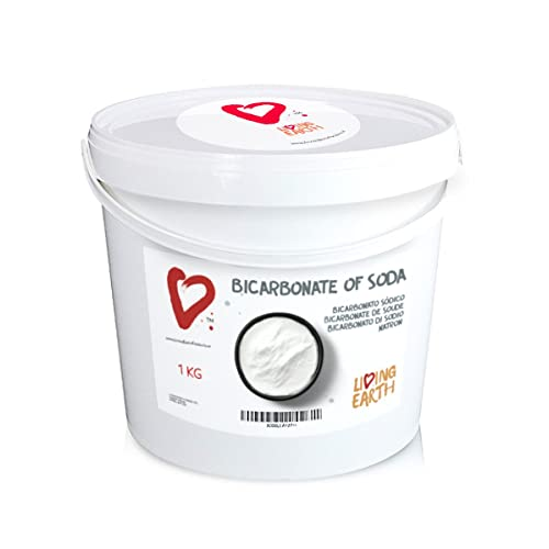 Living Earth 1 kg - Bicarbonate of Soda Sodium Bicarbonate - AN EXCELLENT AND AFFORDABLE ALTERNATIVE FOR CLEANING & PERSONAL CARE.