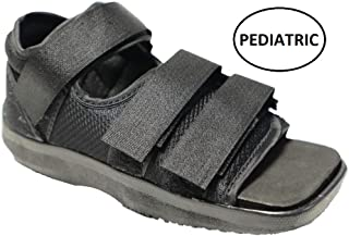Mars Wellness Premium Childrens Post Op Broken Toe/Foot Fracture Square Toe Walking Shoe Cast - Pediatric - Fits Little Kids Sizes 11-1 (Approx 3.5-6 Years Old) (Straps Style May Vary)