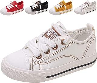 DADAWEN Boy's Girl's Casual Slip On Adjustable Canvas Sneakers (Toddler/Little Kid/Big Kid)
