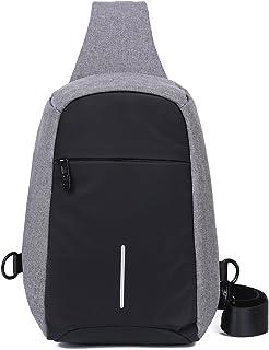 EGOGO Men Anti Theft Sling Bag Chest Pack Shoulder Backpack Bags Travel Cross Body Bag E526-1