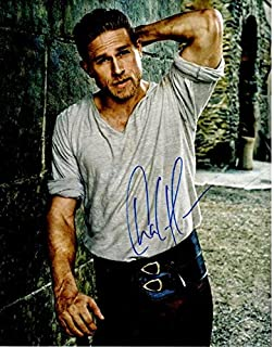 Charlie Hunnam Signed - Autographed King Arthur - Sons of Anarchy Actor 11x14 inch Photo - Guaranteed to pass BAS - Beckett Authentication
