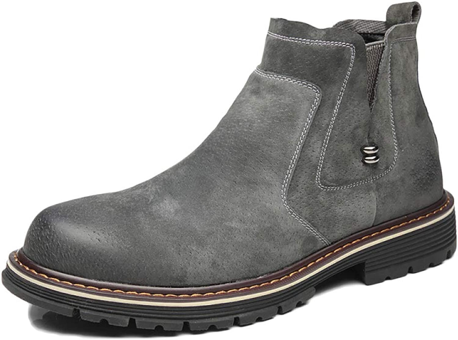 Men's Boots Chelsea Boots Leather Wedding Desert Brock Classic High Help Martin Boots Tooling