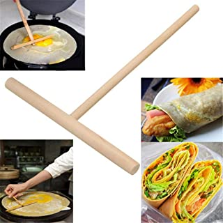 JUSTDOLIFE 15,9 cm crepp strö mångsidig crêpe Maker T form trä crepp verktyg