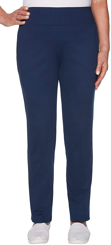 Alfred Dunner Womens Cote D'Azur Comfort Waist Knit Pants