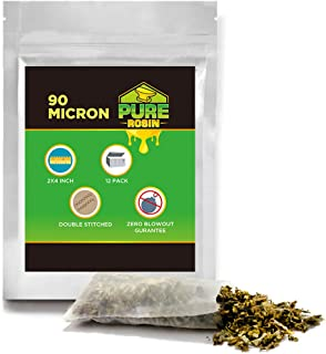 Rosin Press Bags 90 Micron 2in × 4in Double Stitched Patent Reusable micron screen Filter Bags,12 Pack.Zero Blowout Heat Resistant Durable 100% Biodegradable Bolsas de prensa de resina