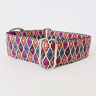 4GUAUS Collar Martingale para Perros - Modelo Mosaico Naranja