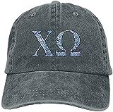 Chi Omega Blue Plant Adult Sport Adjustable Structured Baseball Cowboy Hat