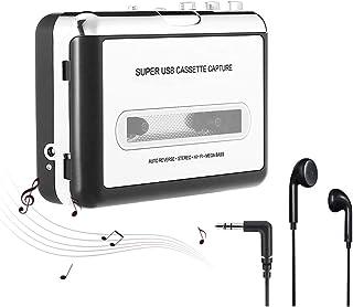 NETEDA Cassette Player, USB2.0 Portable Tape to PC Super Cassette to MP3 Audio Music CD Digital Player Converter Capture +...