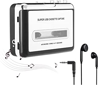 Guardyar Cassette Player, Cassette Tape to MP3 CD Converter via USB, Portable Cassette Tape Converter Captures MP3 Audio Music, Compatible with Laptop and PC