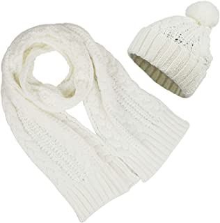 Bienvenu Women's Scarf and Hat 2pcs Set Knitted Warm Skullcaps Thicken Beanie Cap
