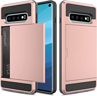 Galaxy S10 Case, Elegant Choise Galaxy S10 Wallet Case, Hybrid Shockproof Dual Layer Rugged Hard Shell with Card Holder Slot Bumper Armor Protective Case for Samsung Galaxy S10 6.1 inch(Rose Gold)