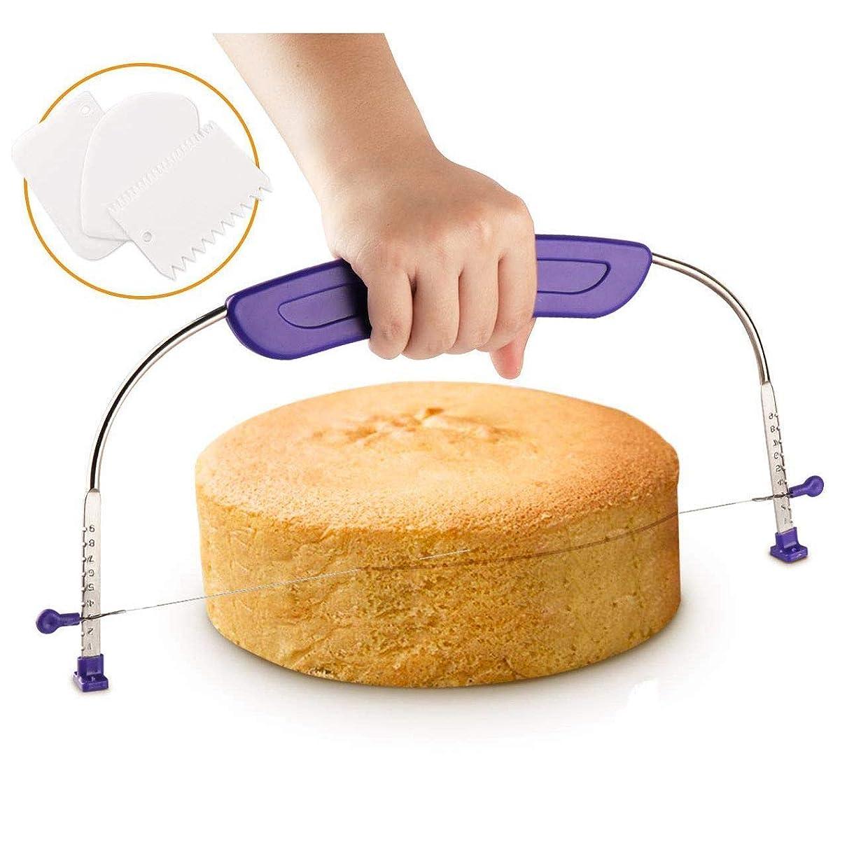 決めますペイントくるくるDIY調理ケーキソーナイフディバイダーレイヤー オムツスライサー DIYベーキングツール 半円型ツール 半円 3ピース