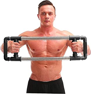 GoFitness Push Down Bar Machine – Chest Expander at Home Workout Equipment –..