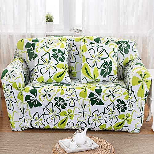 ASCV Tissu Extensible Impression de Fleurs Housse de canapé Housse de canapé Tout Compris Housse de canapé Serviette fauteuils Protecteur Meubles A4 4 Places