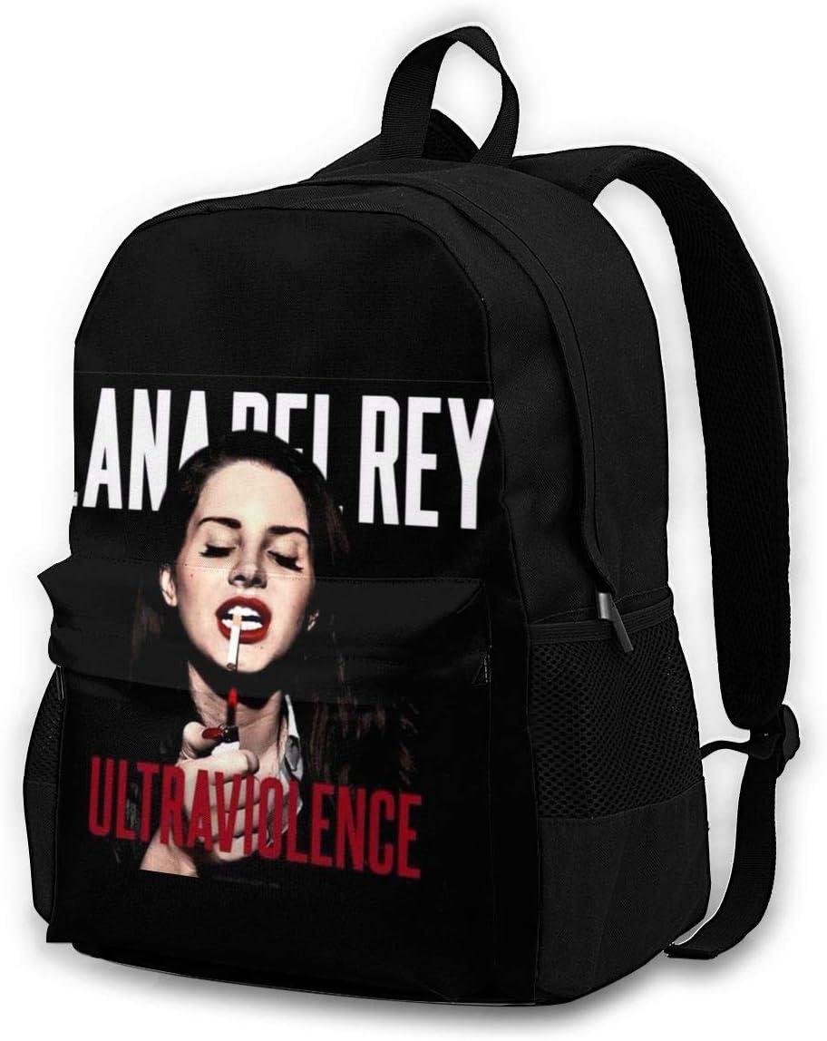 HazelTDahl La-Na Del Rey Ultraviolence Adult Backpack Bookbag School Bags Laptop Bag Outdoor Travel Multifunction Unisex