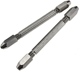 2 x Hexagonal Double Ended Pin Vice Wire Twisting Jewelry Design Repair Tool
