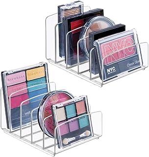 mDesign organiseur maquillage (lot de 2) – boîte de rangement maquillage avec cinq compartiments pour produits de maquilla...