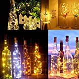 Luz de Botella,12pack 2m 20LEDLuces Para Botellas la Decoración de LED Para las Luces de la Botella del Cobre de la Secuencia Amistosa Económica de la Luz del Corcho del Partido (2M 20LEDs-12pcs)
