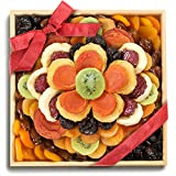 Sweet Bloom Dried Fruit Deluxe Tray Basket Arrangement for Holiday Birthday Healthy Snack Business...