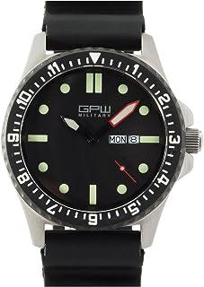 German Military Titanium Watch. GPW Day Date. Black Field Rubber Strap. Sapphire Crystal. 200M W/R.