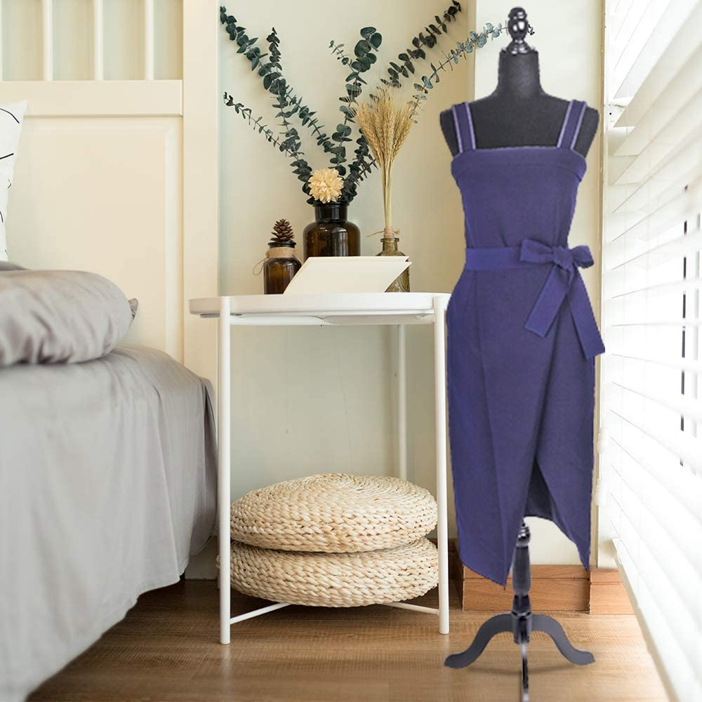 Half-Length Foam /& Brushed Fabric Coating Lady Model for Clothing Display Black