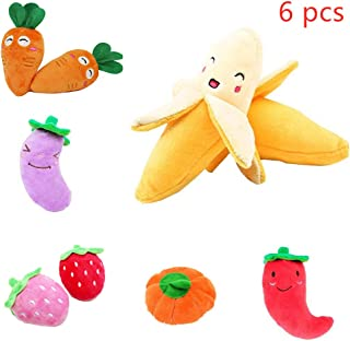 cy cheer Dog Squeaky Toys Small Stuffed Puppy Chew Toys Interactive Plush Dog Toy for Small Medium Large Dog Pets-6PCS