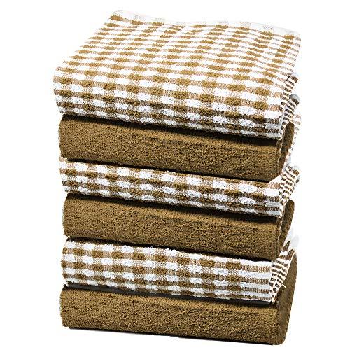 Towelogy® Heavy Duty Katoen Keuken Terry Thee Handdoeken Sneldrogende Schaal Doeken Machine Wasbaar 47x67cm
