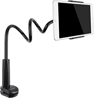 Tryone Gooseneck Tablet Stand, Tablet Mount Holder for iPad iPhone Series/Nintendo Switch/Samsung Galaxy Tabs/Amazon Kindle Fire HD and More, 30in Overall Length (Black)