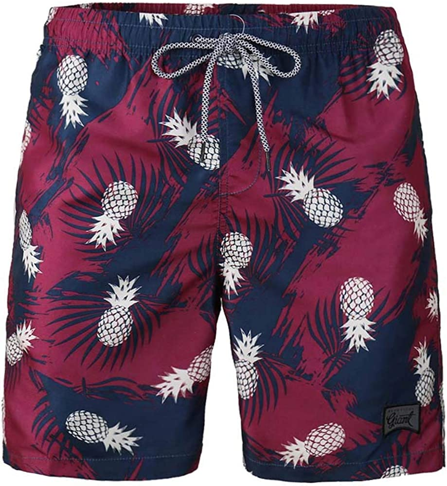 Ivan&Tom Mens Swim Trunk Mesh Lining Beach Running Vacation Board Shorts