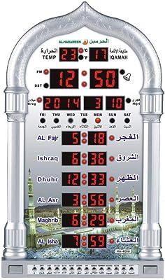 Mosqu/ée Islamique Pri/ère Num/érique Horloge Grand pour La Maison Ou Masjid avec LED Display,dor HXZB Automatique Pri/ère Musulmane Azan Horloge