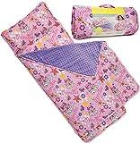 Bambino Bliss Kids Nap Mat with Removable Pillow - Soft, Lightweight Mats, Easy Clean Toddler Nap Pad for Preschool, Daycare, Kindergarten - Children Sleeping Bag (Princess)