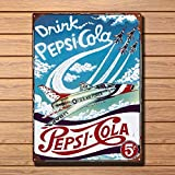 BIT SITNG Pepsi Cola Jets Blechschild Vintage Metallschild